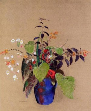 Odilon Redon - Flowers In A Blue Jug