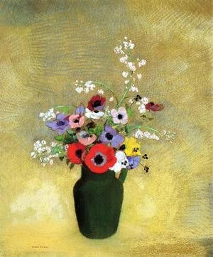 Odilon Redon - Flowers In A Green Pitcher