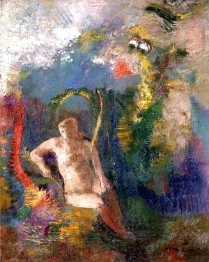 Odilon Redon - Landscape With Eve