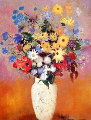 Odilon Redon - Large Bouquet In A Japanese Vase