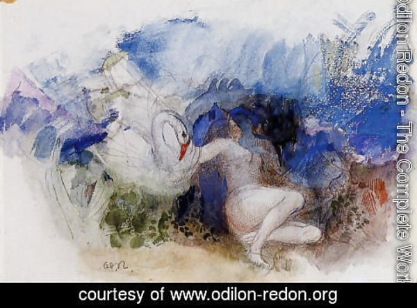 Odilon Redon - Leda And The Swan