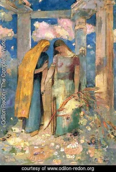Odilon Redon - Mystical Conversation