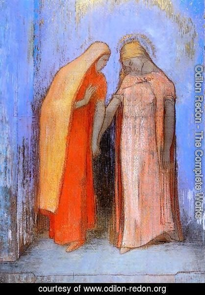 Odilon Redon - Mystical Conversation2