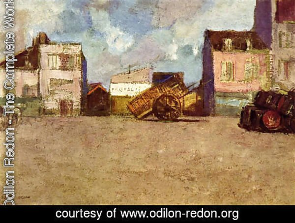 Odilon Redon - Near The Harbor  Brittany