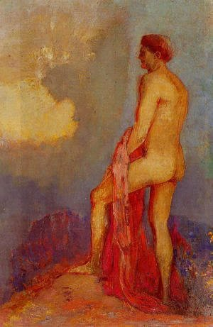 Odilon Redon - Oedipus In The Garden Of Illusions