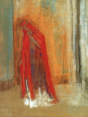Odilon Redon - Oriental Woman (Woman in Red) 1895-1900