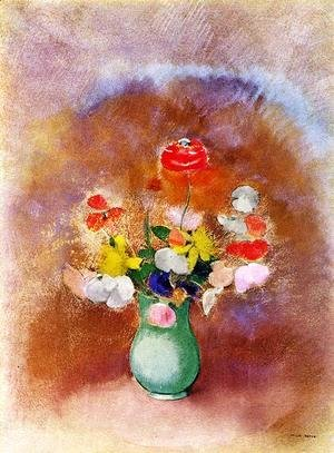 Odilon Redon - Poppies In A Vase