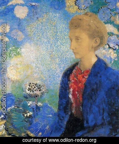Odilon Redon - Portrait Of Madame De Demecy