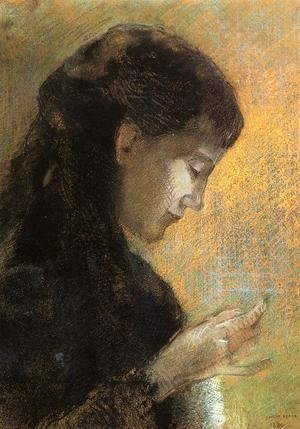Portrait Of Madame Redon Embroidering