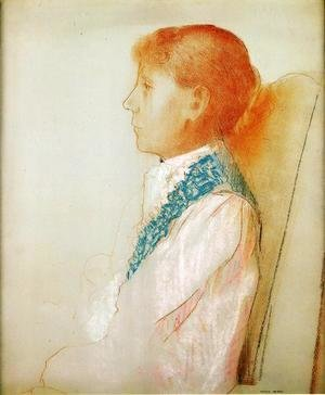 Odilon Redon - Portrait Of Madame Redon In Profile
