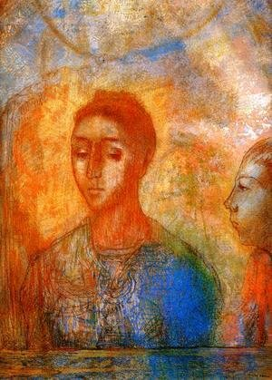Odilon Redon - Portrait Of Madame Redon With Ari