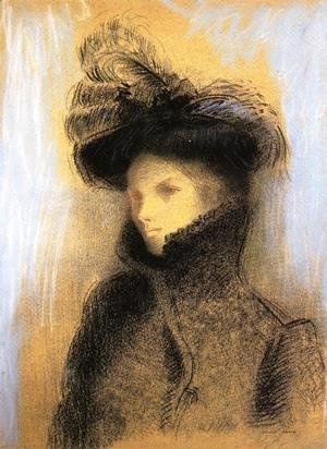 Odilon Redon - Portrait Of Marie Botkine