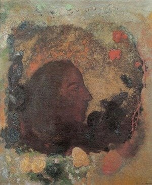 Odilon Redon - Portrait of Paul Gauguin 1903-05