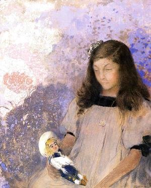 Odilon Redon - Portrait Of Simone Fayet