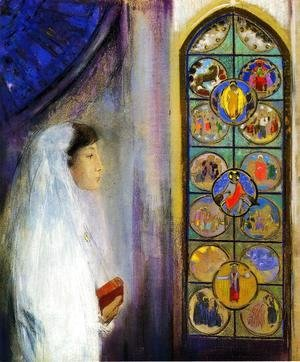 Odilon Redon - Portrait Of Simone Fayet In Holy Communion
