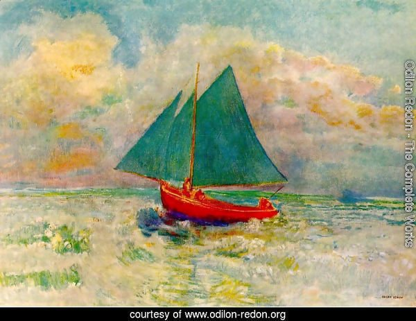 Red Boat with a Blue Sail 1906-07