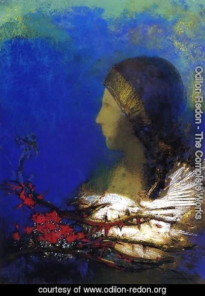 Odilon Redon - Red Thorns