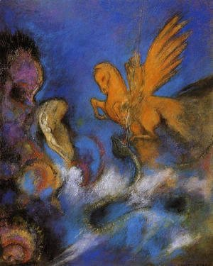 Odilon Redon - Roger And Angelica2