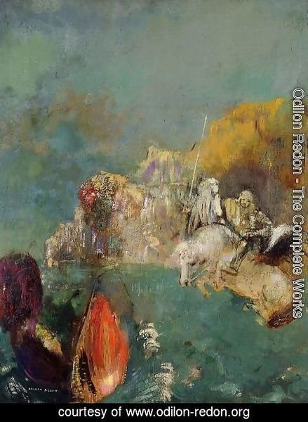 Odilon Redon - Saint George And The Dragon
