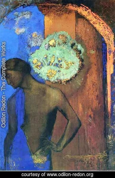 Odilon Redon - Saint John Aka The Blue Tunic