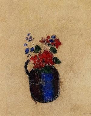 Odilon Redon - Small Bouquet In A Pitcher