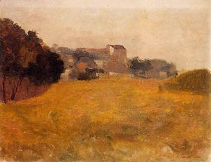 Odilon Redon - Small Village In The Medoc