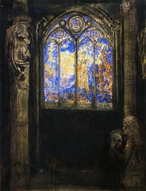 Odilon Redon - Stained Glass Window 1904