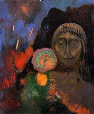 Odilon Redon - Stained Glass Window Aka The Mysterious Garden
