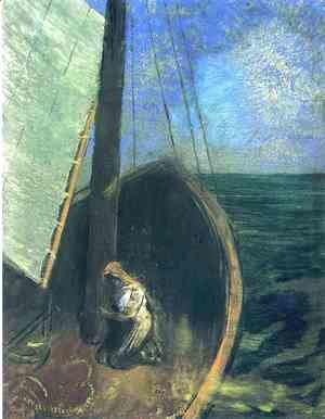 Odilon Redon - The Boat2