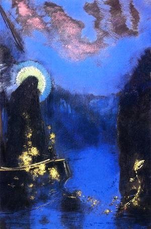 Odilon Redon - The Boat Aka Virgin With Corona