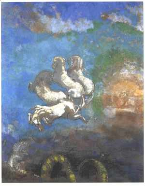 Odilon Redon - The Chariot of Apollo 1905-14