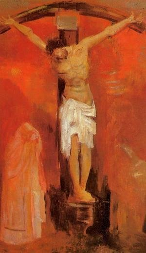 Odilon Redon - The Crucifixion