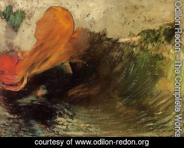 Odilon Redon - The Death Of Ophelia