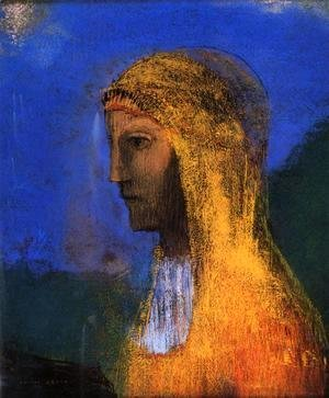 Odilon Redon - The Druidess 1893