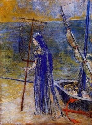 Odilon Redon - The Fisherwoman