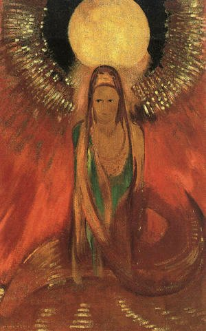 Odilon Redon - The Flame (Goddess of Fire) 1896