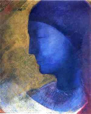 Odilon Redon - The Golden Cell  (The Blue Profile) 1892