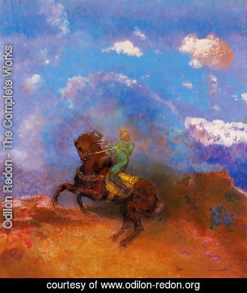 Odilon Redon - The Green Horseman