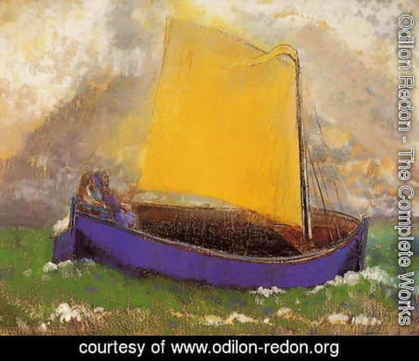 Odilon Redon - The Mysterious Boat