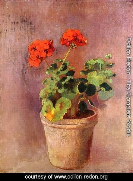 Odilon Redon - The Pot Of Geraniums