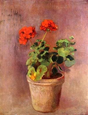 The Pot Of Geraniums