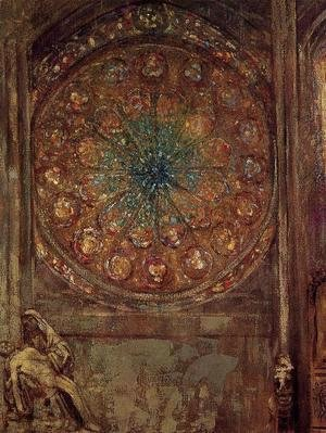 Odilon Redon - The Window3