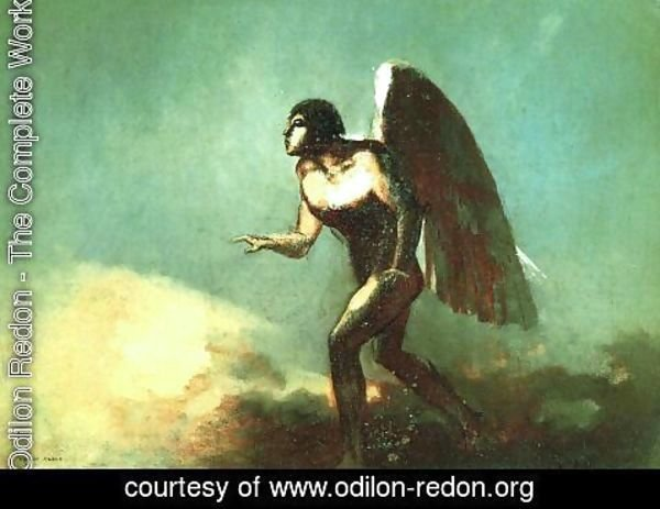 Odilon Redon - The Winged Man Aka The Fallen Angel