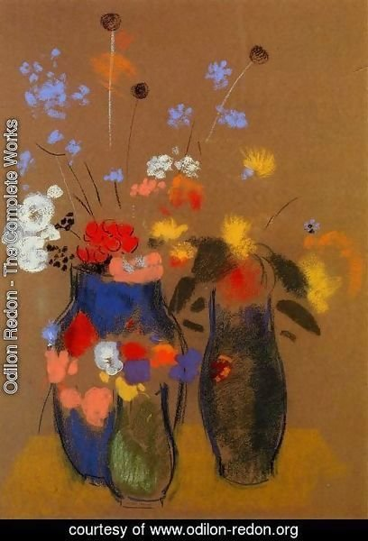 Odilon Redon The Complete Works Three Vases Of Flowers Odilon