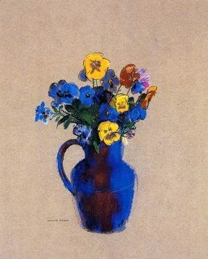 Vase Of Flowers   Pansies
