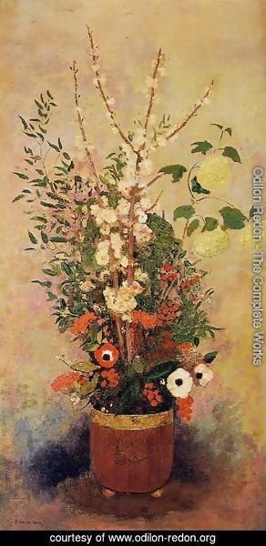 Odilon Redon The Complete Works Vase Of Flowers With Branches Of