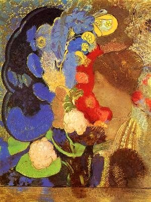 Odilon Redon - Woman Among The Flowers